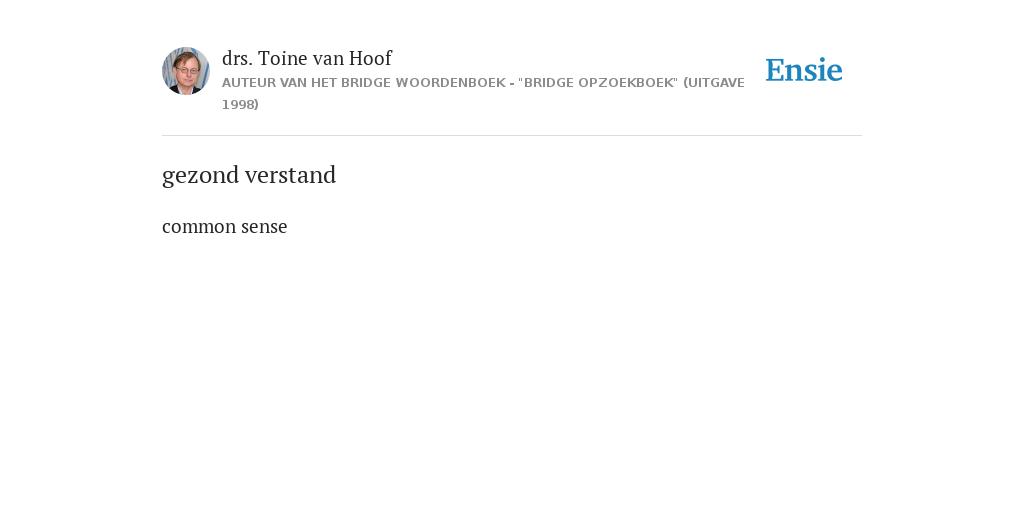 Gezond Verstand De Betekenis Volgens Drs Toine Van Hoof