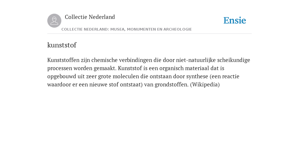 Kunststof De Betekenis Volgens Collectie Nederland