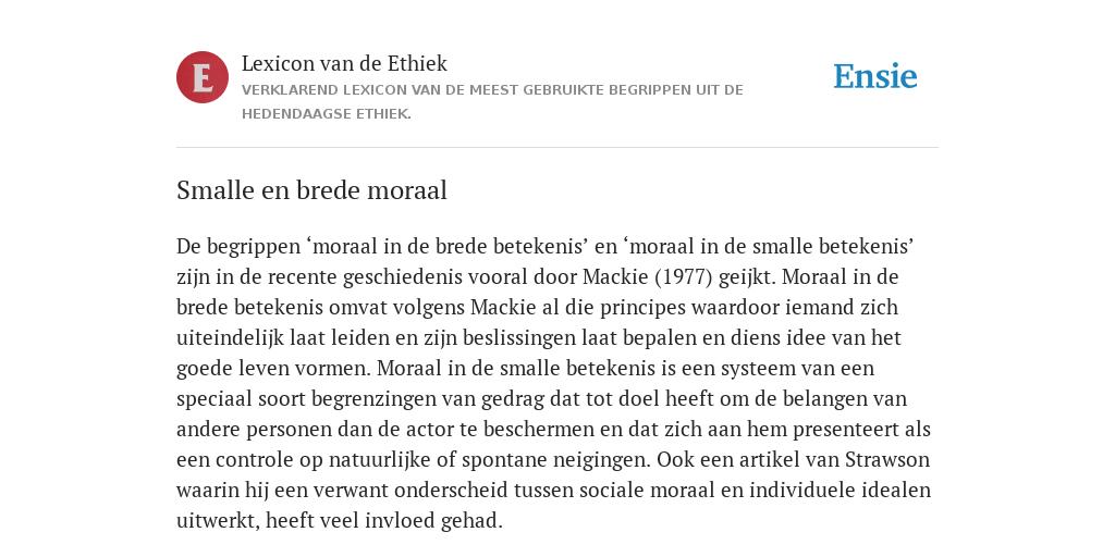moraal definitie