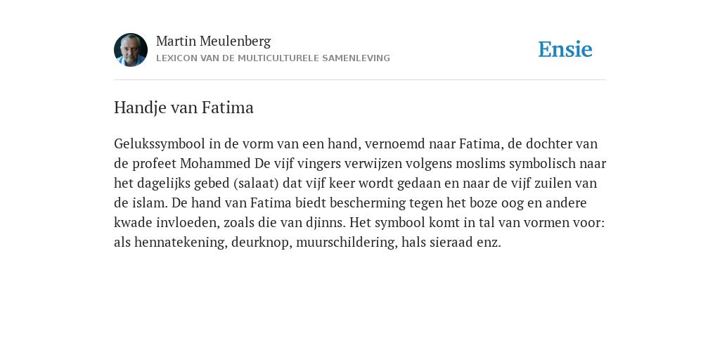 Betekenis Fatima Handje.Handje Van Fatima De Betekenis Volgens Martin Meulenberg