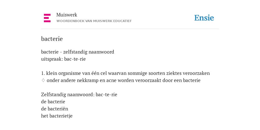 bacterie woordenboek)