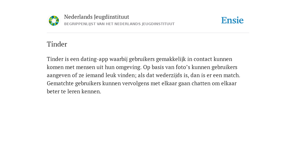 Random dating definitie