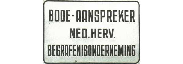 Emaille bordje aan de woning van de aanspreker te Aalten