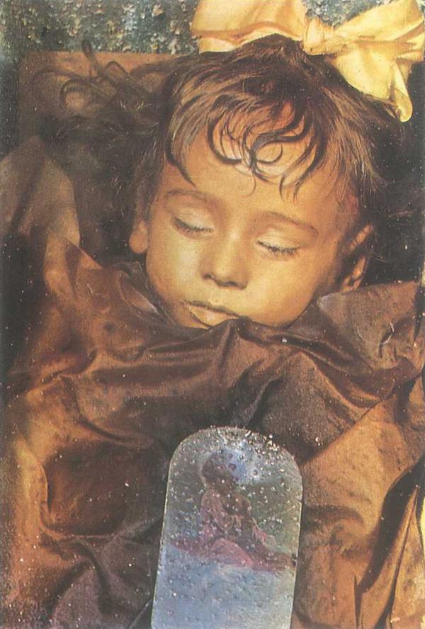 Het tweejarig meisje Rosalia Lombardo, gestorven op 6 december 1920