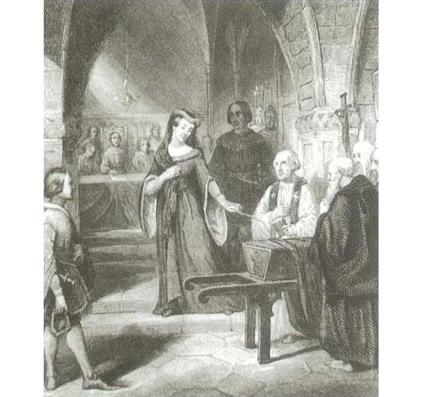 De weduwe van hertog Albrecht van Beieren verstoot de ergenis