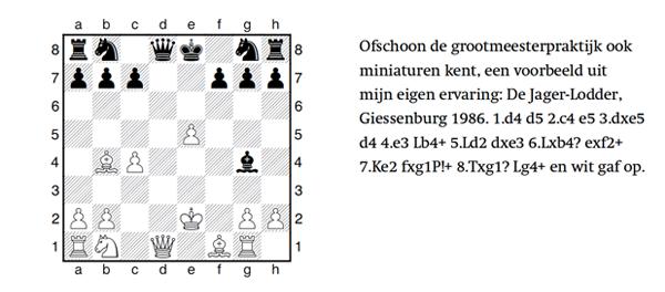 Voorbeeld van een miniatuur schaakspel
